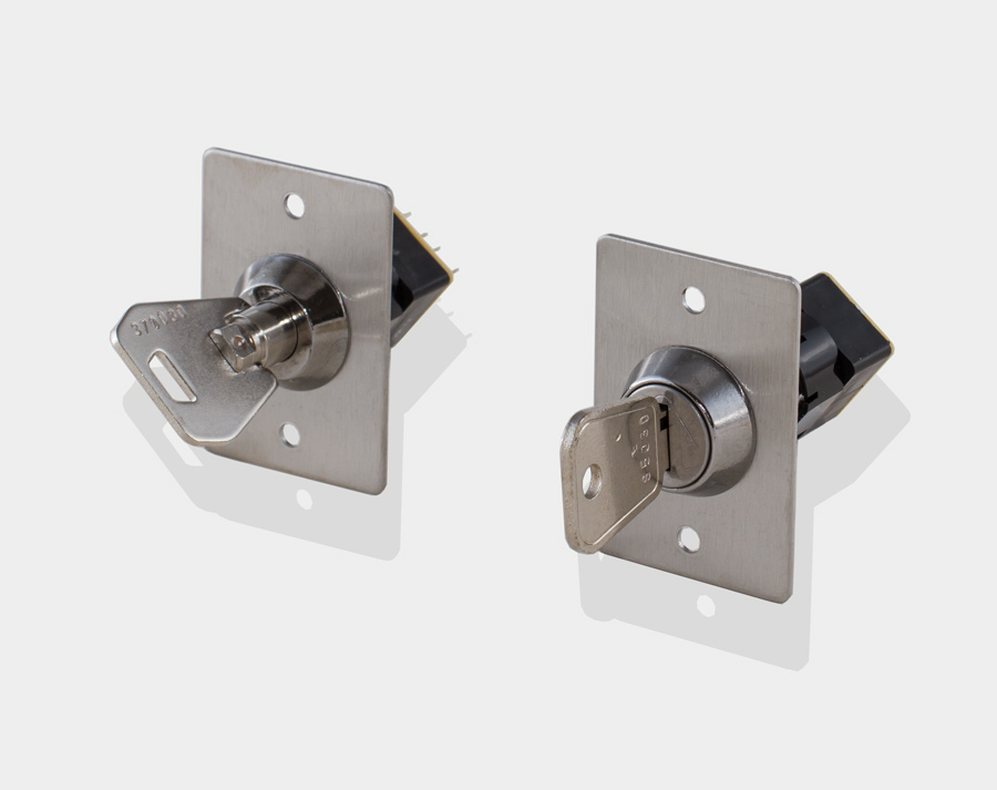 Flush mounted keyswitch, key switch FK1, FK1/RT